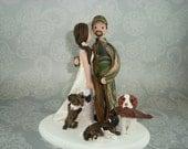 Hunting Theme Wedding Cake Topper