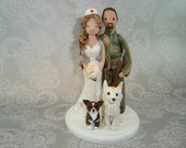 Nurse & Hunter Personalized Wedding Cake Topper