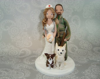 Nurse & Hunter Personalized Wedding Cake Topper