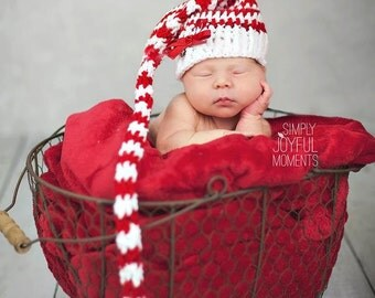 Crochet elf hat in your choice of color. Made to order.