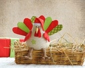 Turkey Softie Pattern. Tommy the Turkey Softie Sewing Pattern PDF Digital ePattern Soft Toy Christmas or Thanksgiving