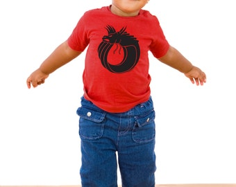 Baby Dragon - Red T-shirt - 6 or 12 months