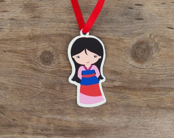 Mulan and Friends Party Collection - Set of 10 Mulan Favor Tags by The Birthday House