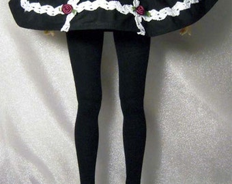Black with lace skirt for SD, luts delf, 1/3 bjd DOLL