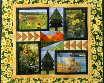 Photo Frame - Pop PHOTOS In & Out - Rocky Mountain Memories - Paper Pieced PDF Pattern