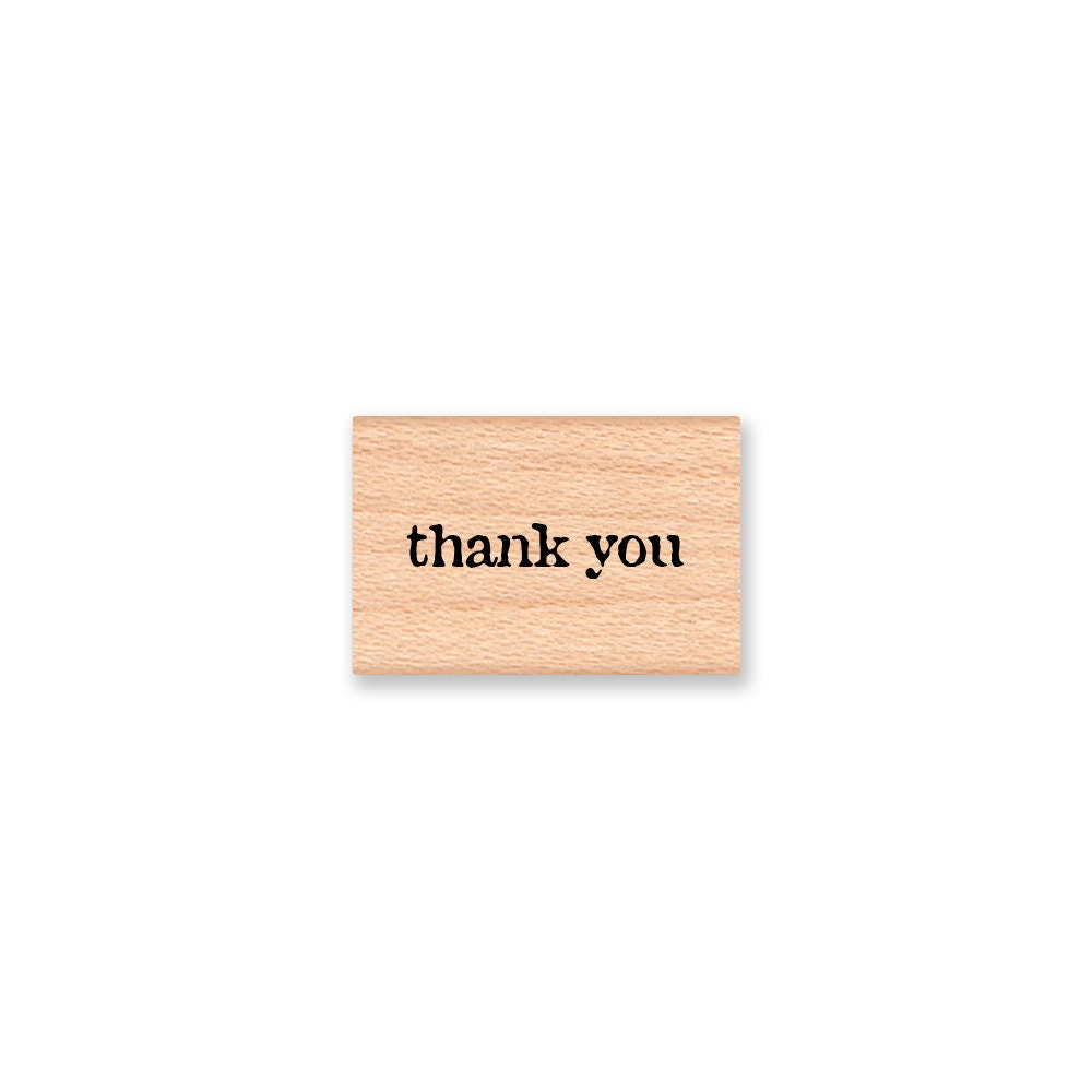 Thank You Rubber Stamp Small Thank You Stamp Type Font