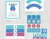 Korean Hanbok Boy Birthday DIY Party Package by MayDetails: Full Collection Party Kit