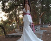 SALE - Ready To Ship - Fit To Flare Style Peplum Wedding Dress