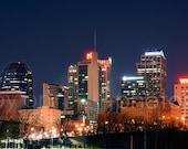 Nashville Skyline NIGHT Panoramic Photo Print Poster Cityscape