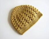 Crochet Toddler Hats for Girls, Tan Crochet Beanie, Little Girls Hat, MADE TO ORDER, Sophia Fashion Beanie