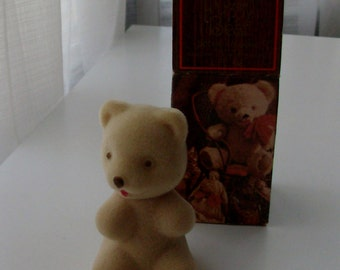 NEW Fuzzy Bear with Occur Cologne and Decanter by Avon (Code d)