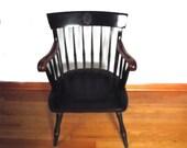 Vintage Johns Hopkins Alumni Chair / Nichols n Stone University Seal Spindle Chair