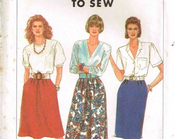 Slim Skirts Misses  Easy to Sew Simplicity 9600 Sewing Pattern Plus Size 16 18 20 24