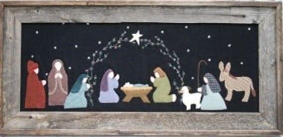 Under the garden moon o holy night christmas nativity hand for Under the garden moon