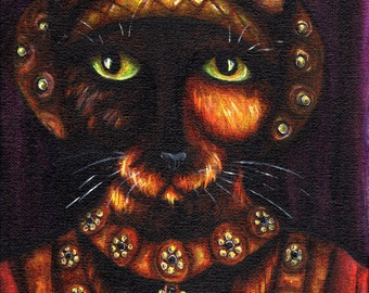 Tortoiseshell Cat Art, Anne of Cleves, Henry VIII, Tudor Queen 8x10 Art Print
