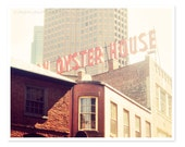 Union Oyster House Photograph, Boston Photography, Kitchen art food photography, Dreamy pastel, New England, Sign Photograph, Wall Art