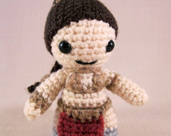 PDF of Slave Leia - Star Wars Mini Amigurumi Pattern - Crochet Pattern