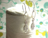 HALF PRICE sale - Clasp Me You Fool - Connections / silver dangle earrings  / drop earrings / silver drop earring / bridal earrings