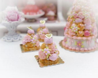 Baby Pink Croquembouche - Miniature French Pastry in 12th Scale