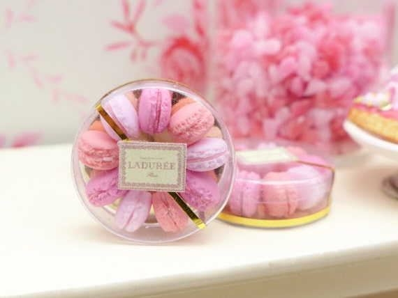 Shades of Pink Parisian Macaroons - Handmade Miniature Food in 12th ...