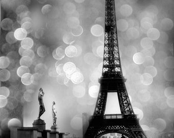 Paris Photography, Eiffel Tower, Black White Photography, Paris Decor, Paris Wall Art, Paris Prints, Paris Black and White Photography Print