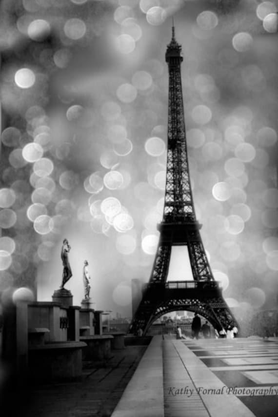 Paris Photography Eiffel Tower Black White Photography
