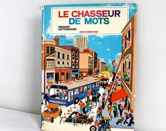 80s vintage French children book - Le chasseur de mots