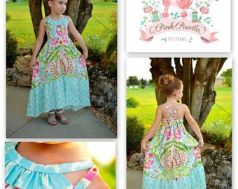 PDF Pattern, Girls Sewing Pattern, The Sophia Maxi Dress