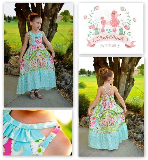 PDF Pattern- Girls Sewing Pattern- The Sophia Maxi Dress by ...