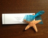 Sugar Star Fish  Beach Wedding Favor Place Card Gift / Escort Card Starfish