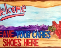 Welcome Leave Your Shoes Mat