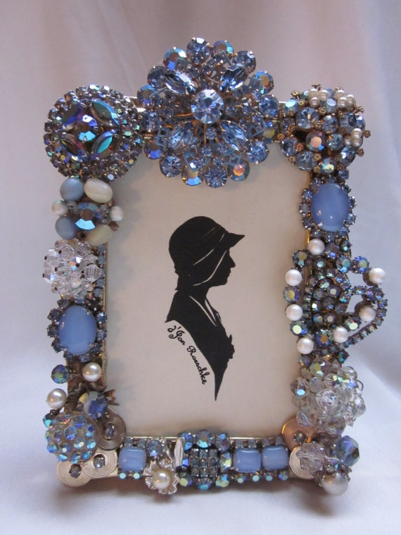 Vintage Repurposed Rhinestone Jewelry Embellished Picture
