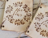 Rustic Wedding Vow Books His and Hers NEW 2014 Design by Morgann Hill Designs