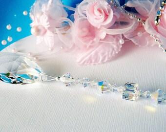 Swarovski Crystal Light Pull Ceiling Fan Pull Chain Hanging Crystal Prism Suncatcher