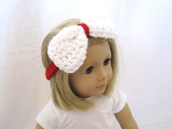 american girl doll accessories headband bow red on sale. Black Bedroom Furniture Sets. Home Design Ideas