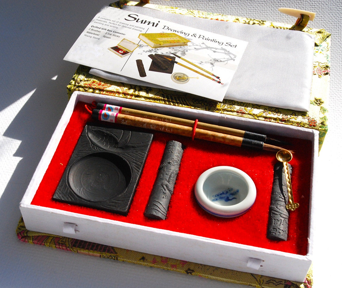 Sumi Ink Set Drawing And Painting Set Chinese Calligraphy