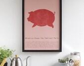 Brooklyn Knows the Tastiest Parts - neighborhood map & pig butchery poster