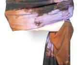 SALE. Eagle Nebula Infinity Scarf, Circle Scarf, Soft Organic Cotton Jersey.