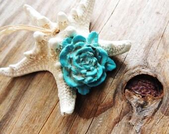 Starfish Ring Bearer Pillow Wedding Ring Holder Beach Wedding Ringbearer Pillow Alternative Bowl Dish Plate Box Flower