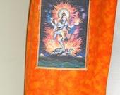 Yoga mat bag dancing Shiva yoga tote bag yoga mat carrier orange background