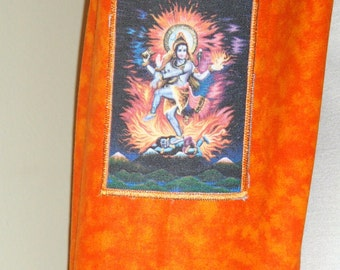Yoga mat bag dancing Shiva yoga tote bag yoga mat carrier orange background