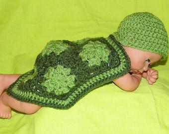 Newborn Photo Prop Turtle Costume