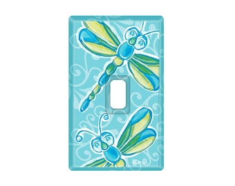Blue Dragonfly Switch Plate Cover