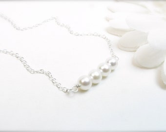 Adult Freshwater Pearl Bar Necklace