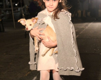50% OFF at Checkout, use Coupon Code SALE50 OOAK Girl's Pink Angora Dress and Embellished Cape