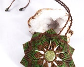 Green Serpentine Macramé Mandala Necklace