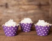 12 Cupcake Wrappers - Purple Cupcake Decorations - Paper Cupcake Wrappers - Cupcake Supplies - Cupcake Party - Cupcake Wrap