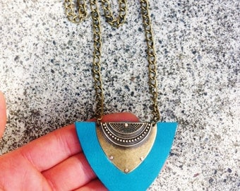 Tribal Necklace Teal, cheap shipping international