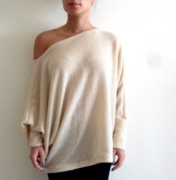 Oversize sweater/ Knitted shirt/ Plus size shirt/ by onor ...
