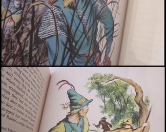 vintage The Merry Adventures of Robin Hood, Illustrated Junior Library Edition. Howard Pyle, Lawrence Beall Smith. 1952 HC. Full color, b&w